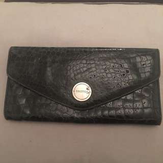Black Oroton Large Envelope Wallet