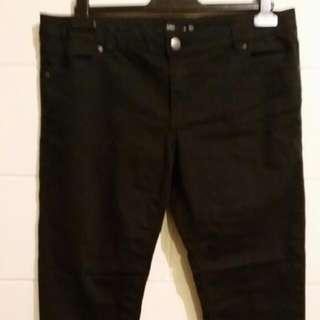 Sportsgirl Black Stovepipe Jeans Sz 16