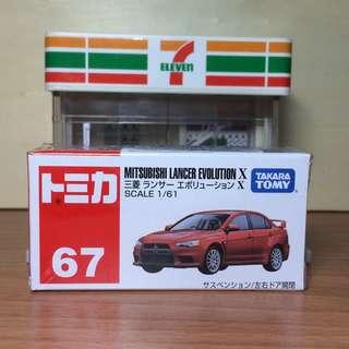 No.67 Mitsubishi Lancer Evolution X 多美 Tomica 小汽車 Tomy Takara