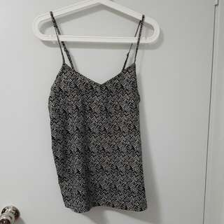 Boohoo Chevron Patterned Singlet Top