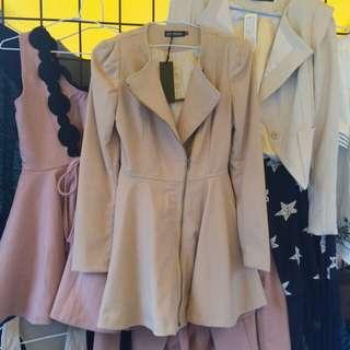 全新韓版洋裝式外套