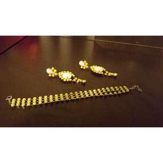 Earings & Bracelet