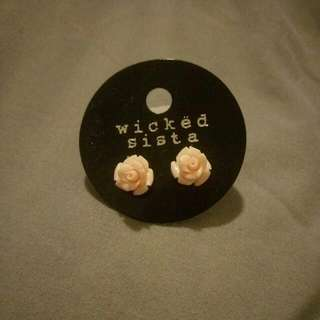 Rose Earrings Studs