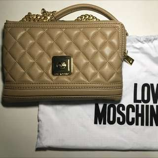Love Moschino Quilted Flat Crossbody Bag