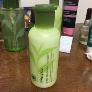 9.9成新 Innisfree綠茶乳液 含運