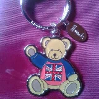 Harrods 專櫃正品 英國國旗熊 鑰匙圈