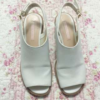 Charles & Keith White Clogs