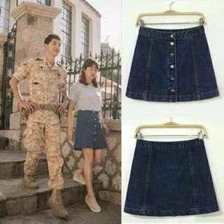 PO DOTS Denim AA Line Skirt from Descendants of the Sun!!!