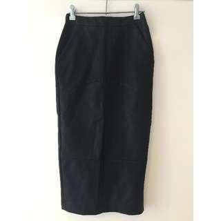 Sportsgirl PU Midi Pencil Skirt