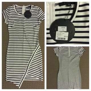Brand New* Catalog Black & White Stripes Dress
