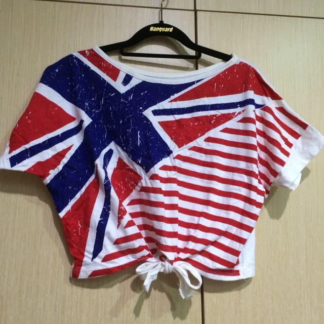 英國🇬🇧國旗短版上衣