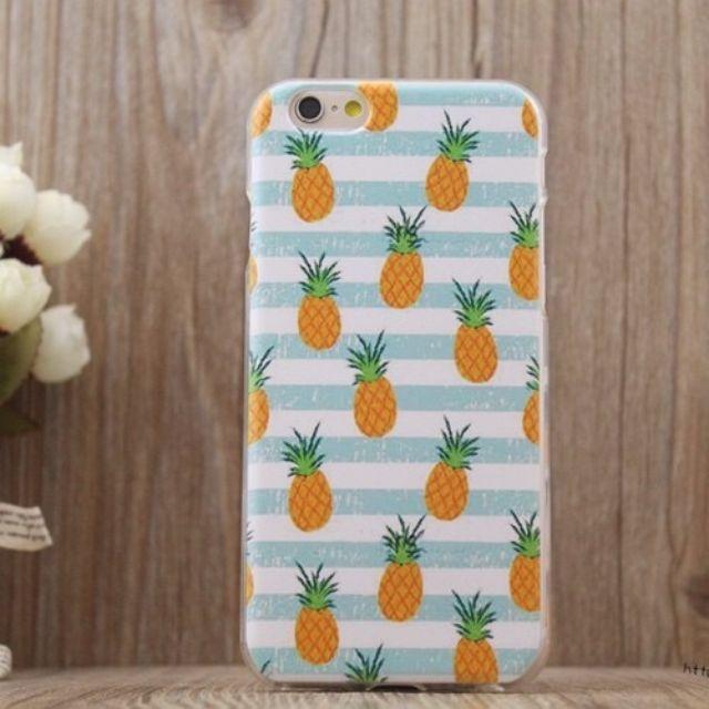 春季水果 鳳梨 iPhone矽膠軟殼手機殼/保護套