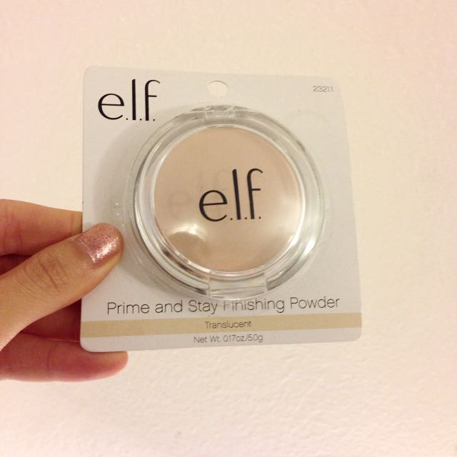 現貨一個 🇺🇸美國彩妝代購 elf Prime andStay Finishing Powder 蜜粉餅 色號透明