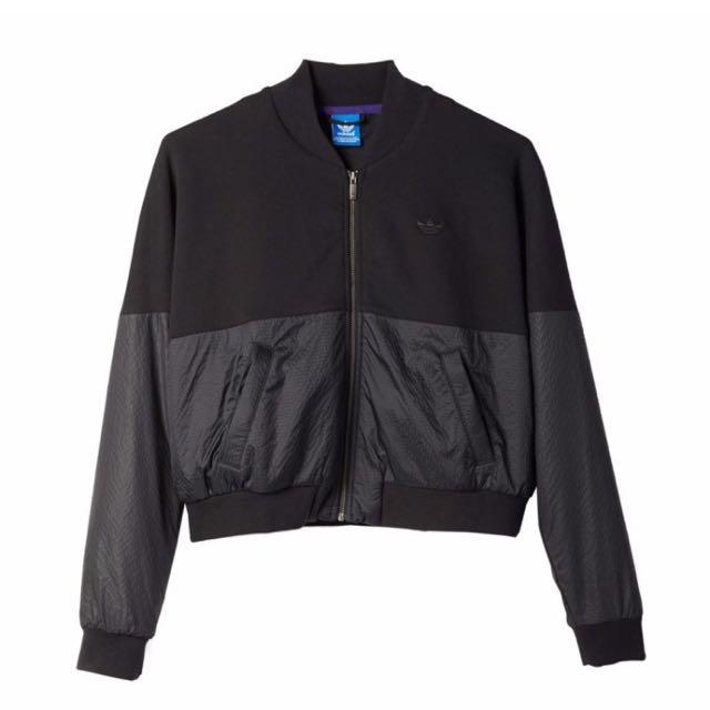 Adidas originals Tokyo mix super track black jacket 愛迪達 東京 黑色 短版 外套 夾克