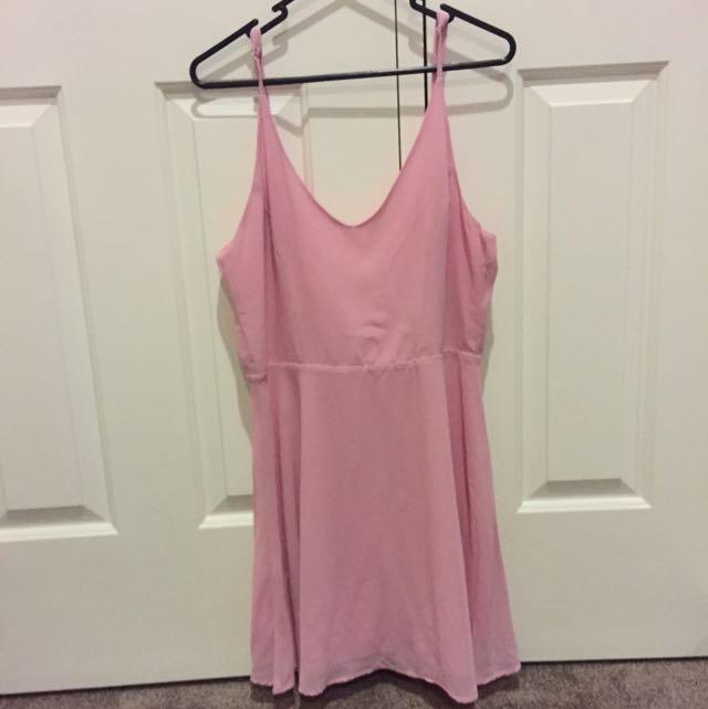 Asos pink skater dress