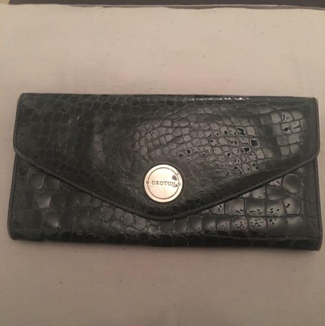 Black Oroton Large Envelope Wallet