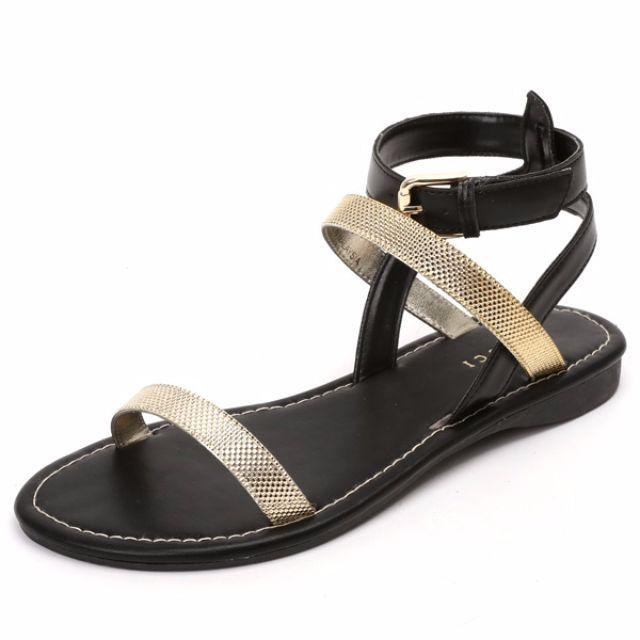 BN Vincci Black Sandal Size 8
