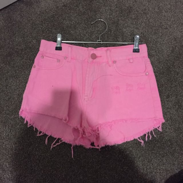 Boohoo high waisted shorts
