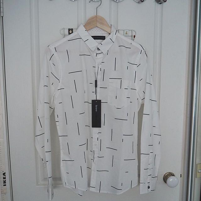 BRAVE White Patterned Shirt