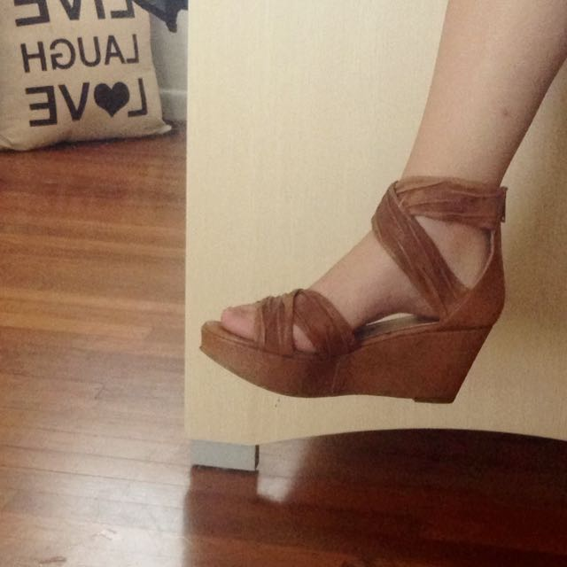 Brown ZU Wedged Heels