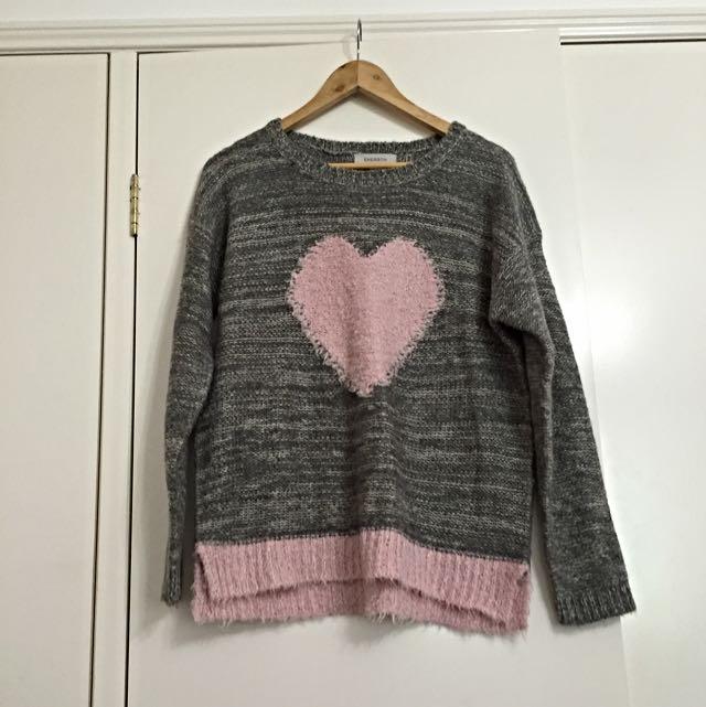 Cute Knitted Heart Jumper