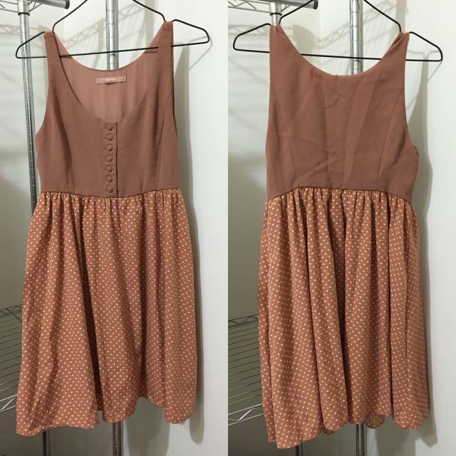 🇯🇵日本品牌dazzlin 焦糖色 洋裝