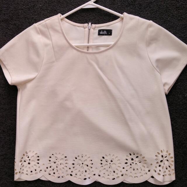 Dotti White Top - Size Small RRP $29.95