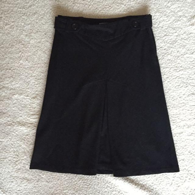 Forecast Wool Blend A-Line Skirt S6