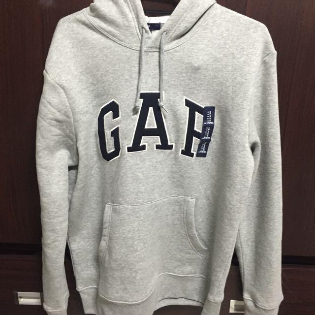 全新gap男帽t 灰色s號