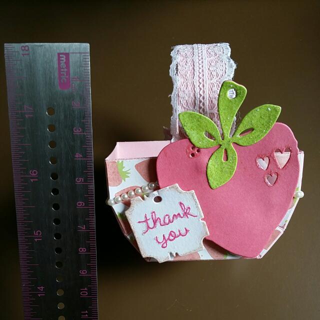 Handmade Mini Paper Basket W/ 3 Ferrero Rocher