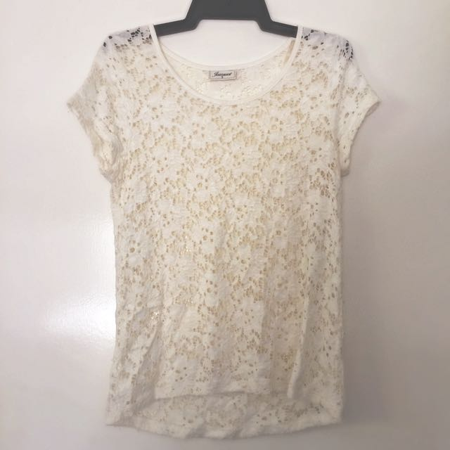 Lace Tee- Jeans West