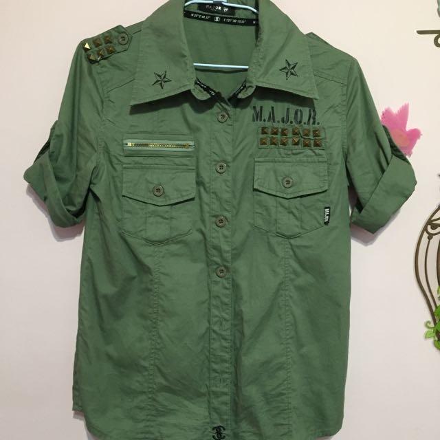 Major Made 軍綠襯衫