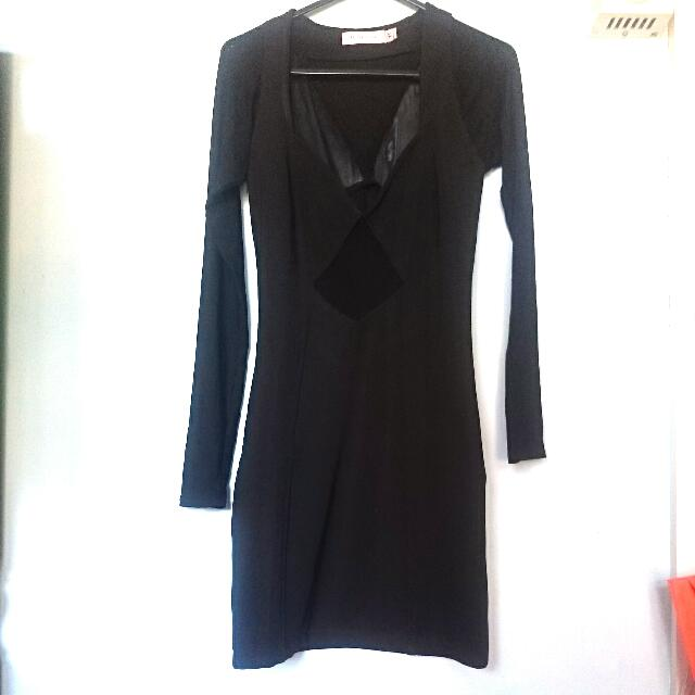 Minkpink Black Dress With Mesh Detail