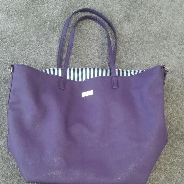 Napolean Perdis Purple Tote Bag