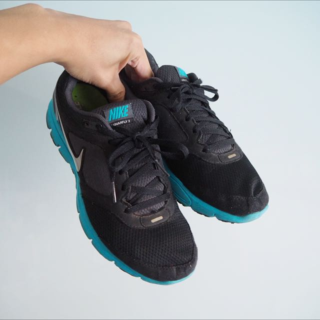 NIKE MENS Blue/Black Lunarlon Sneakers