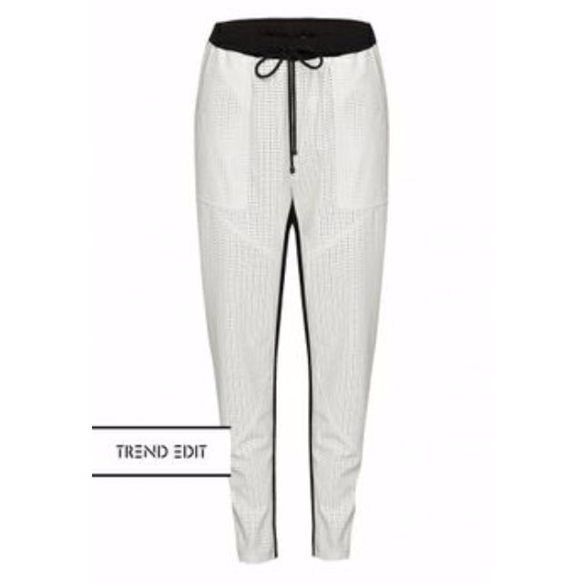 Skeike white leather pants