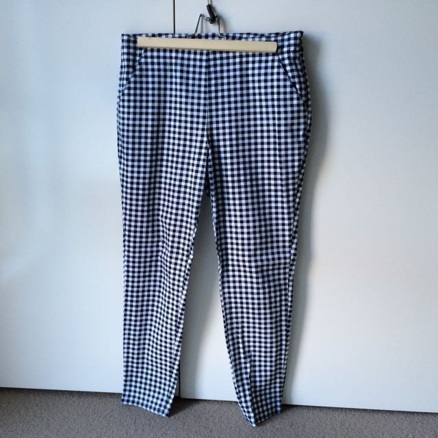 Subtitled - High Waisted Checkered Pant