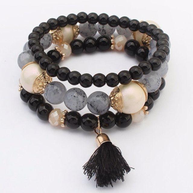 Tassel Dark Beads