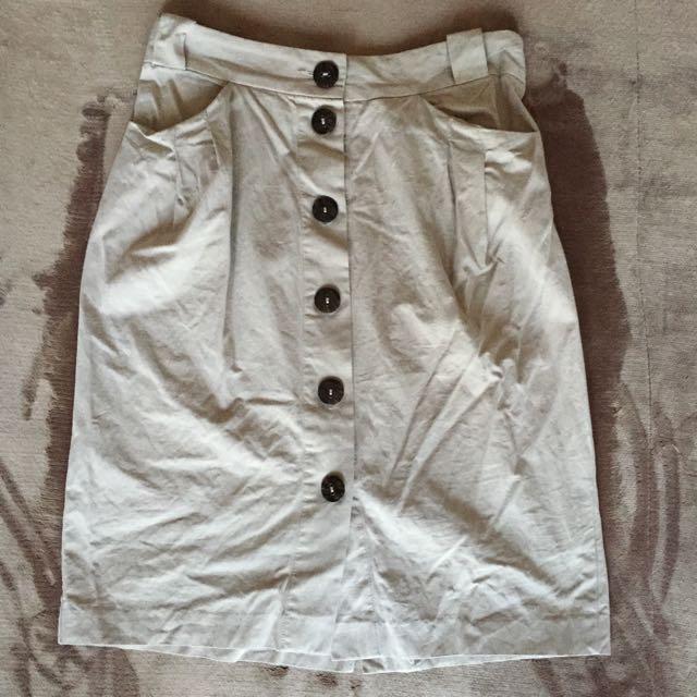 Veronika Maine Linen Blend Skirt S10