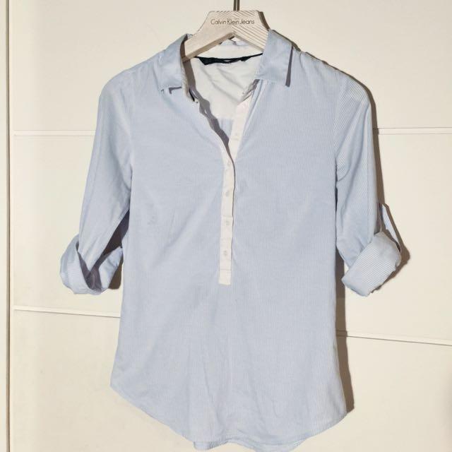 ZARA七分袖襯衫原價990