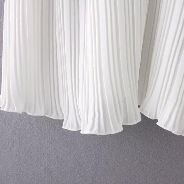 419c6e7b01a08 Zara SS  16 Pleated Contrast Cami Top