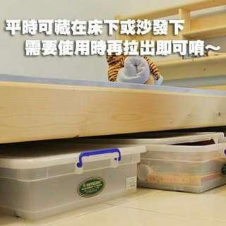 床下掀蓋式滾輪收納箱