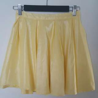 Faith & Lola Yellow High Waist Skirt