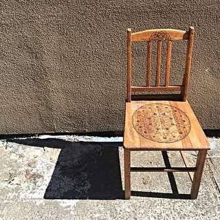 *Price Drop* Amandala Life-  Upcycled Timber Chair Woodburn Mandala Design