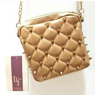 Zara TRF Studded Chain Sling Bag