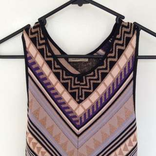 Aztec Fitted Dress Sz S/8