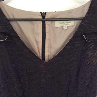 Veronika Maine Black Dress Sz 8