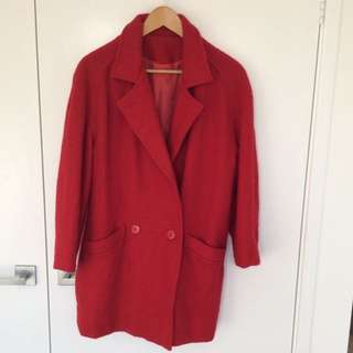 Pure Wool Red Coat