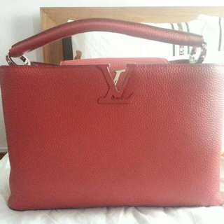 NA Red LV Capucine MM - Real Leather