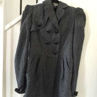 Charcoal-grey trench/jacket